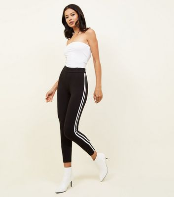 Tall Black Double Side Stripe Leggings