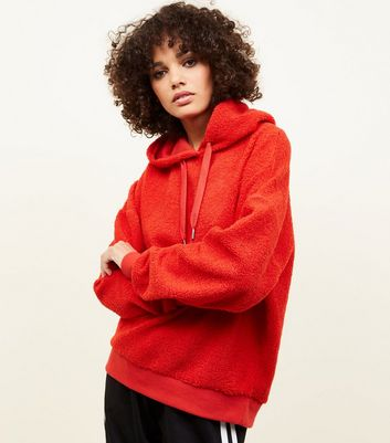 Red Borg Oversized Hoodie