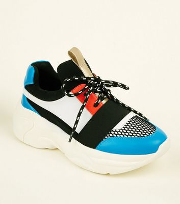 Blue Limited Edition Colour-Block Chunky Trainers