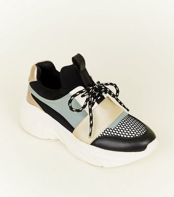 Rose Gold Limited Edition Colour-Block Chunky Trainers