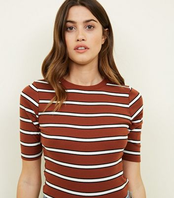 Rust Stripe 1/2 Sleeve T-Shirt