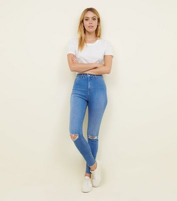 Tall Bright Blue High Waist Super Skinny Jeans