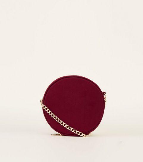 Burgundy Round Cross Body Bag