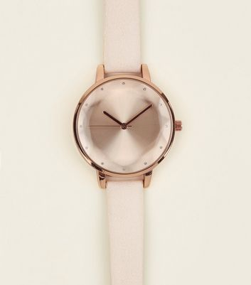 Nude Faceted Dial Watch by New Look