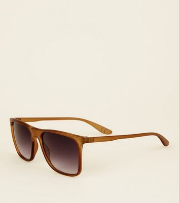 Mustard Smoke Tinted Square Sunglasses
