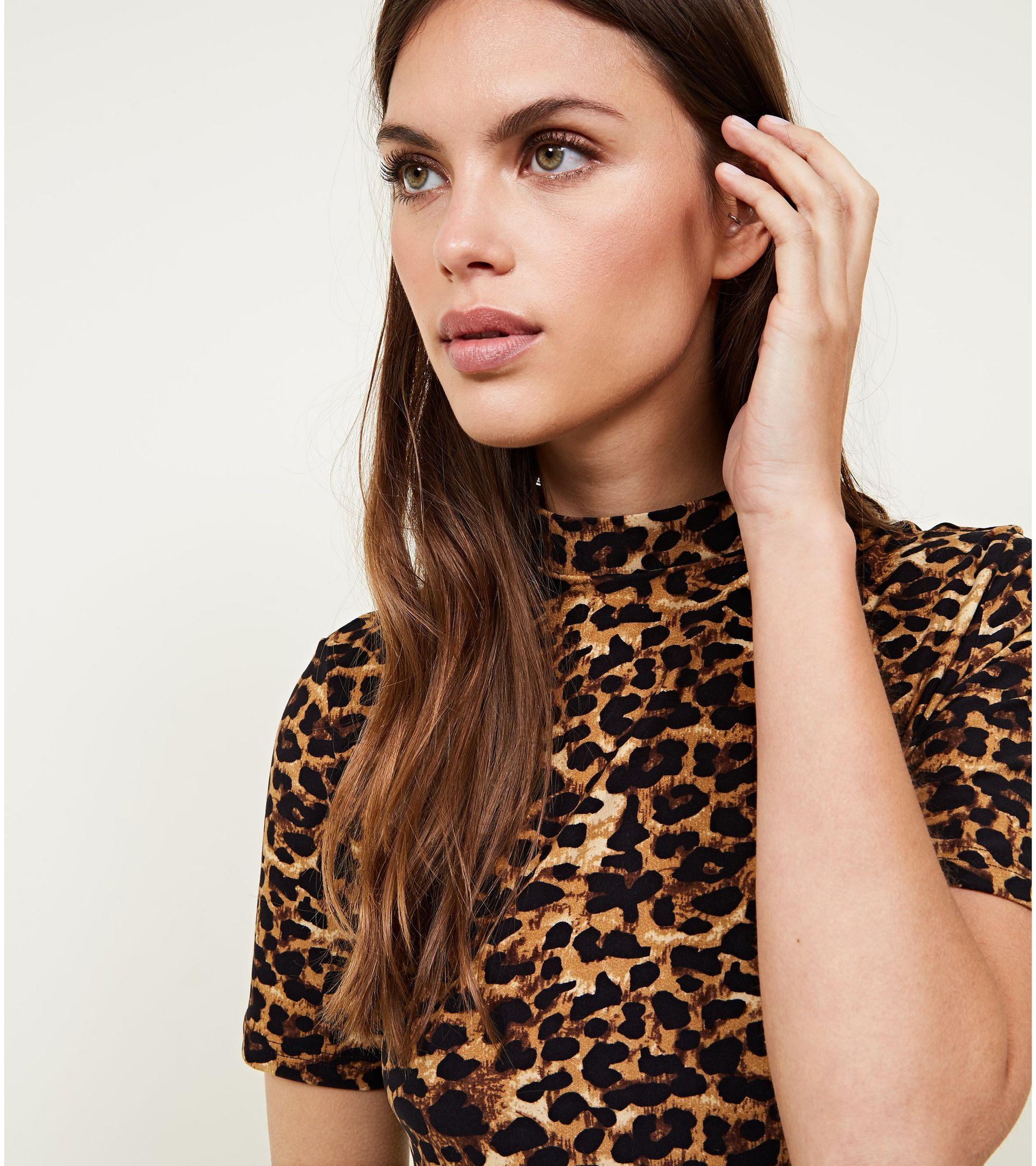 New Look Pink Vanilla Brown Leopard Print Bodycon Dress at £18 ... f6b626fd8