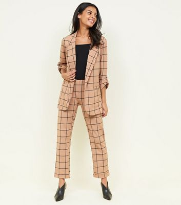 Camel Scuba Grid Check Trousers