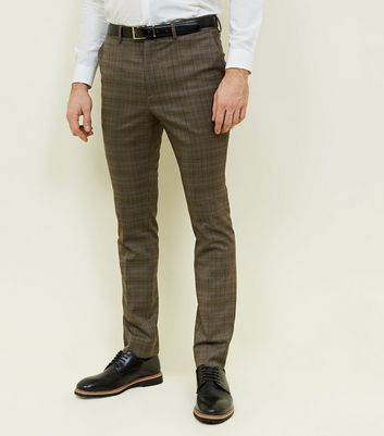 Rust Check Slim Fit Trousers
