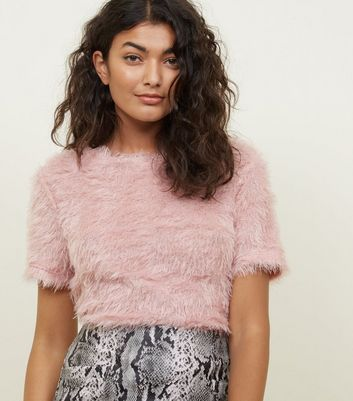 Pale Pink Fluffy T-Shirt