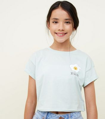 Girls Mint Green Egg Slogan T-Shirt