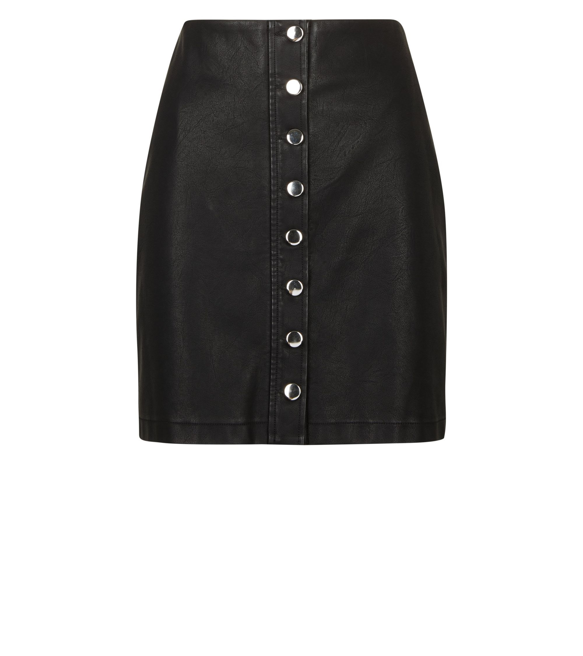 b2f41117a1bb4c New Look Black Leather Look Skirt – DACC