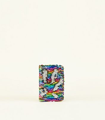 Rainbow 2 Way Sequin Passport Holder