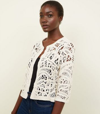 Off White Crochet Cover Up