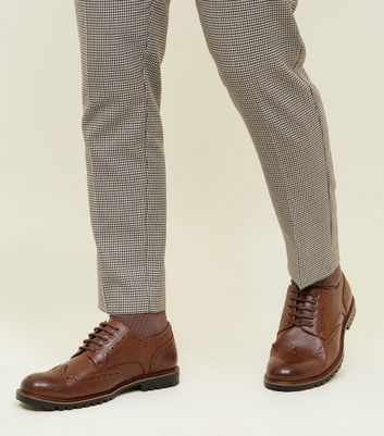 Dark Brown Cleated Sole Brogue Formal Shoes