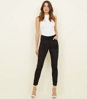 Black Corduroy High Rise Dahlia Super Skinny Jeans by New Look