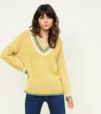 Yellow Marl Fluffy Cricket Jumper