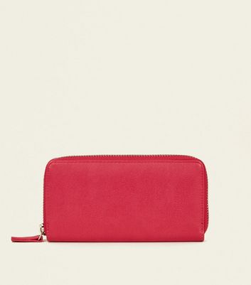 Bright Pink Zip-Around Purse