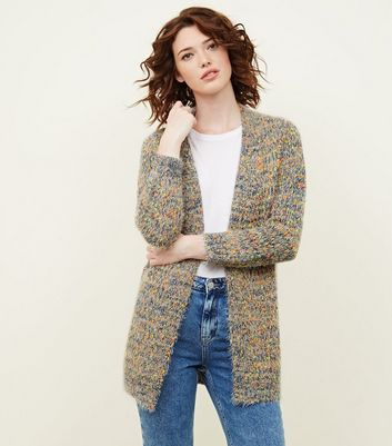 Multi Coloured Fluorescent Woven Cardigan
