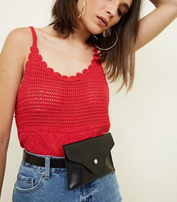 Black Envelope Purse Belt