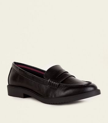 Wide Fit Leather Loafer by New Look