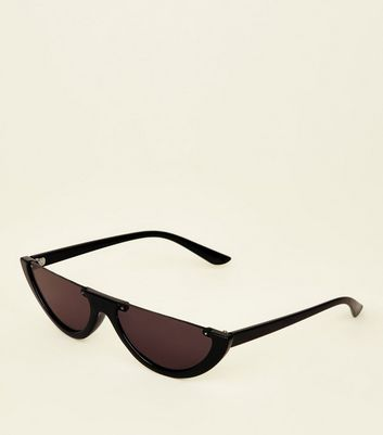 Black Half Moon Sunglasses