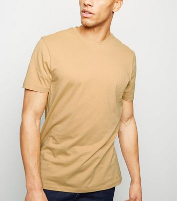Camel Crew Neck T-Shirt