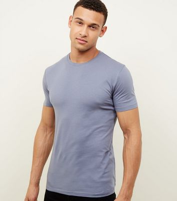 Blue Muscle Fit T-Shirt