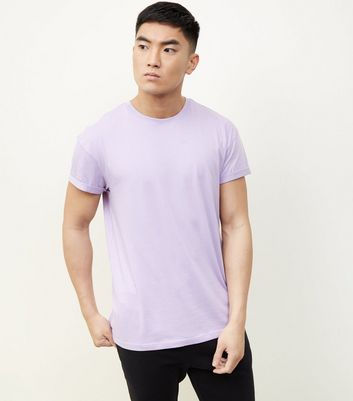Lilac Rolled Sleeve T-Shirt