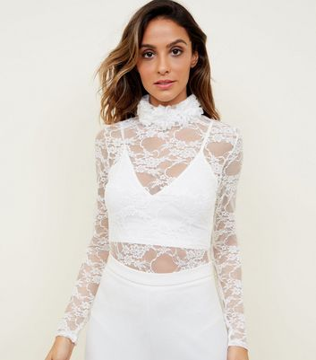 Carpe Diem Cream Lace Bodysuit