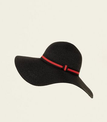 Red Stripe Band Floppy Hat