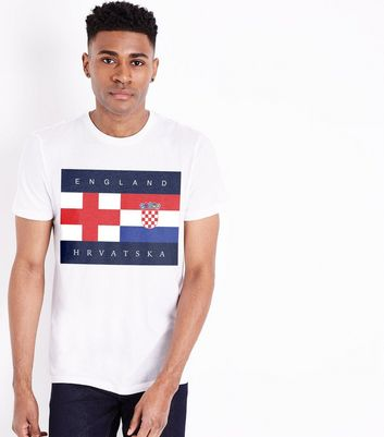 White England Vs Croatia T-Shirt