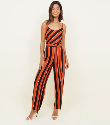 Cameo Rose Red Stripe Tie Waist Trousers
