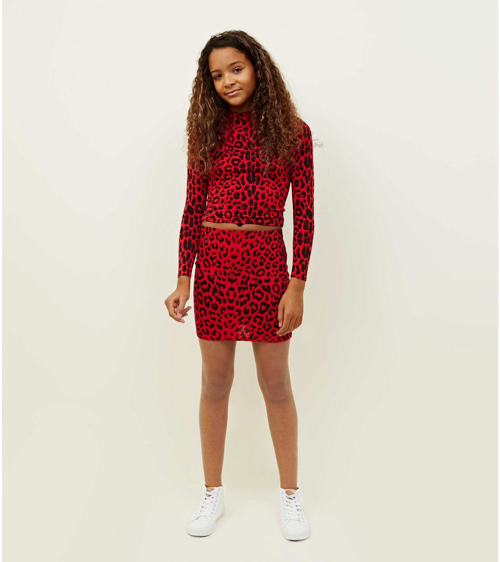 e26c77ba58 New Look Girls Red Leopard Print Tube Skirt at £4   love the brands