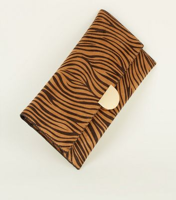 Black Tiger Print Clutch Bag