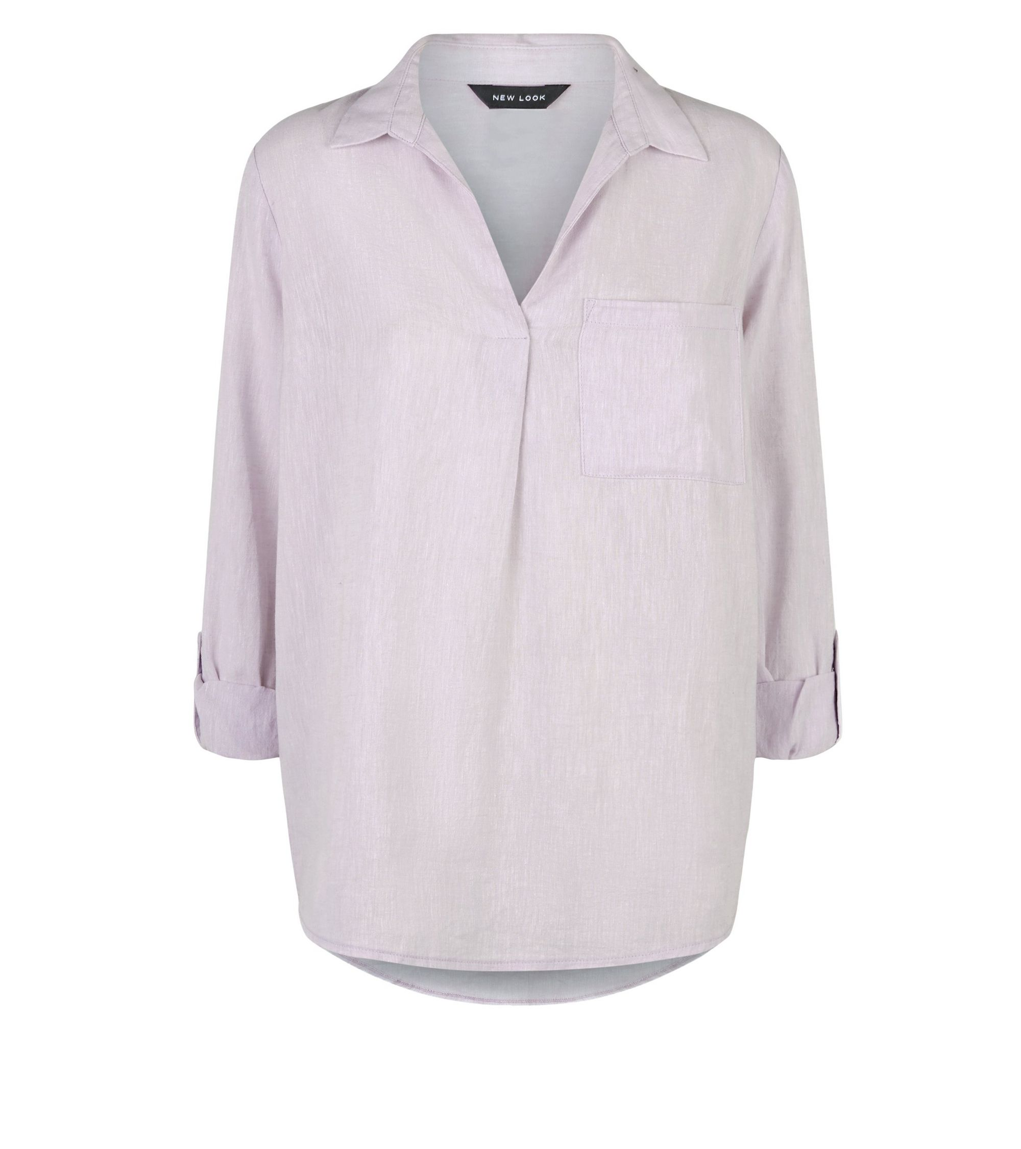 c91947b25ce29a New Look Linen Blend Overhead Shirt at £15.99 | love the brands