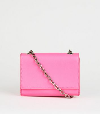 Bright Pink Neon Cross Body Bag