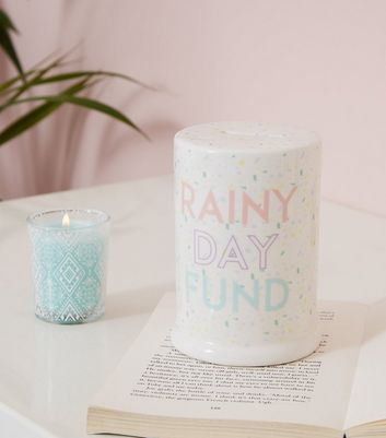 White Speckle Rainy Day Fund Money Box