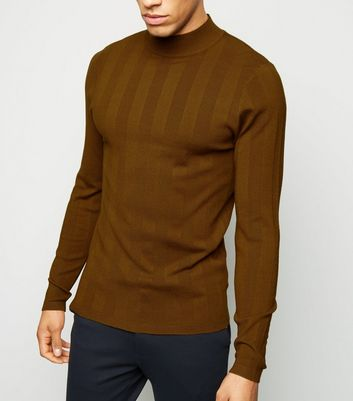 Rust Long Sleeve Muscle Fit Jumper