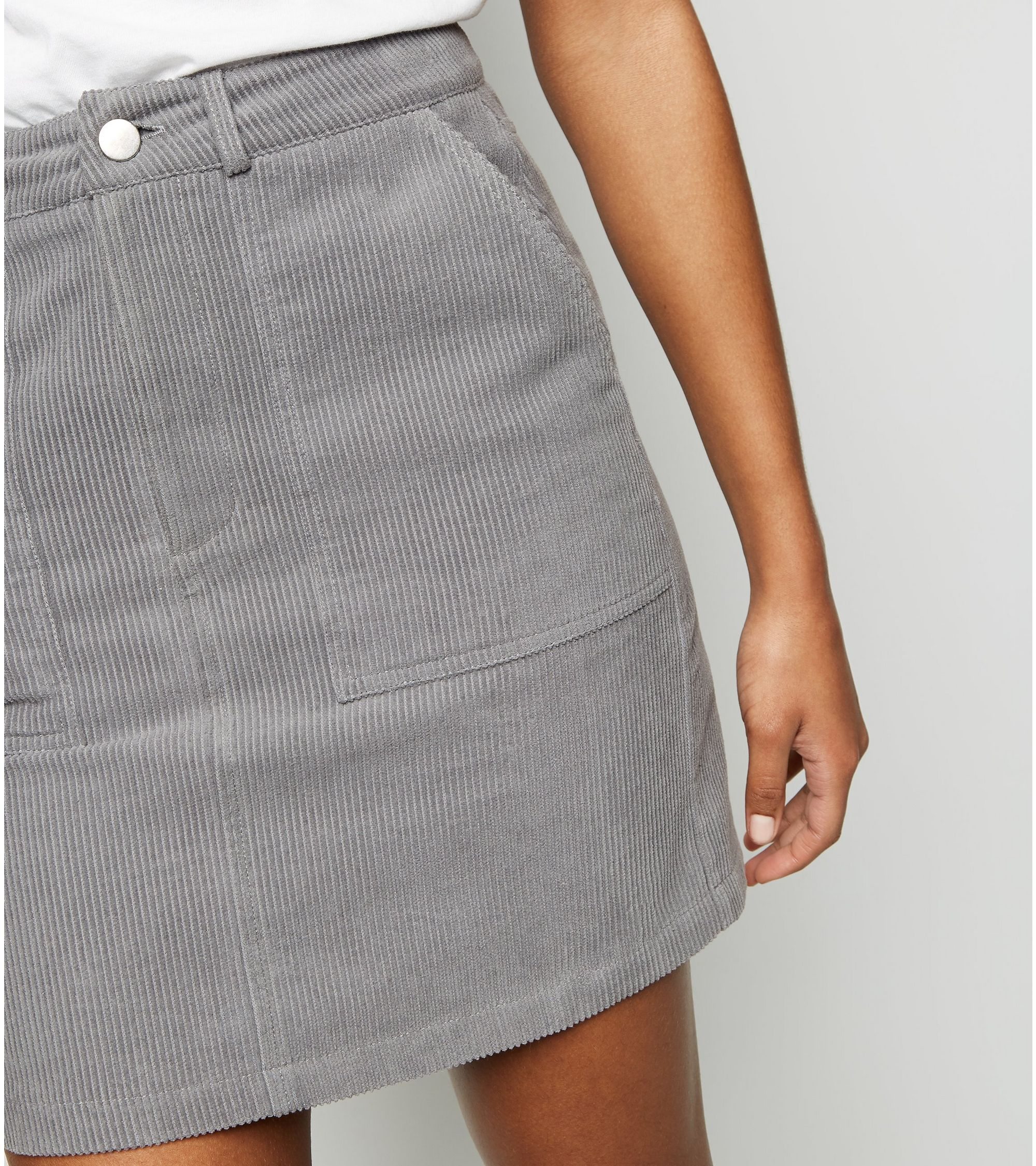 67dad2a65e New Look Grey Corduroy Mini Skirt at £19.99 | love the brands
