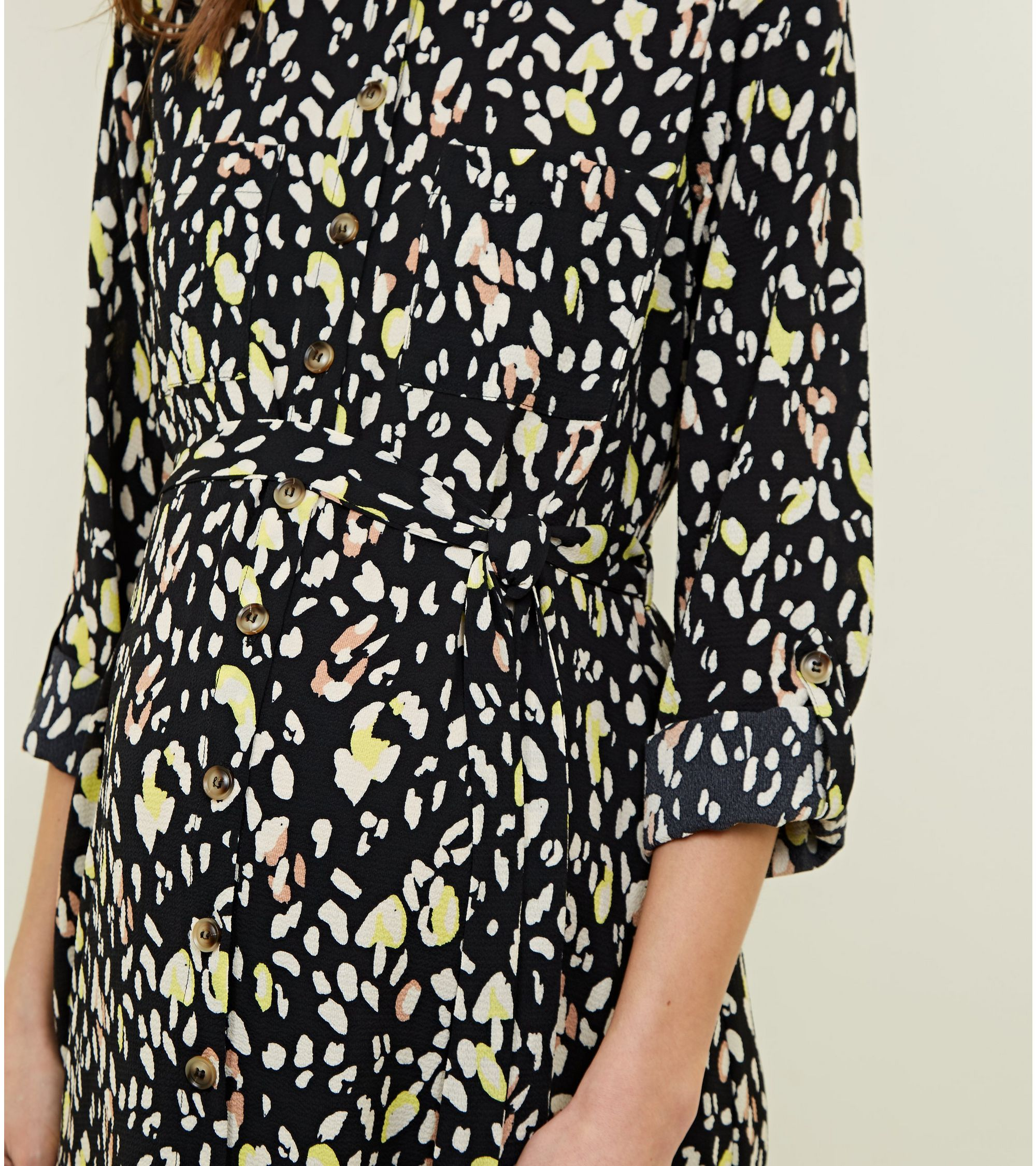 283877bc89c New Look Maternity Black Leopard Print Shirt Dress at £24.99