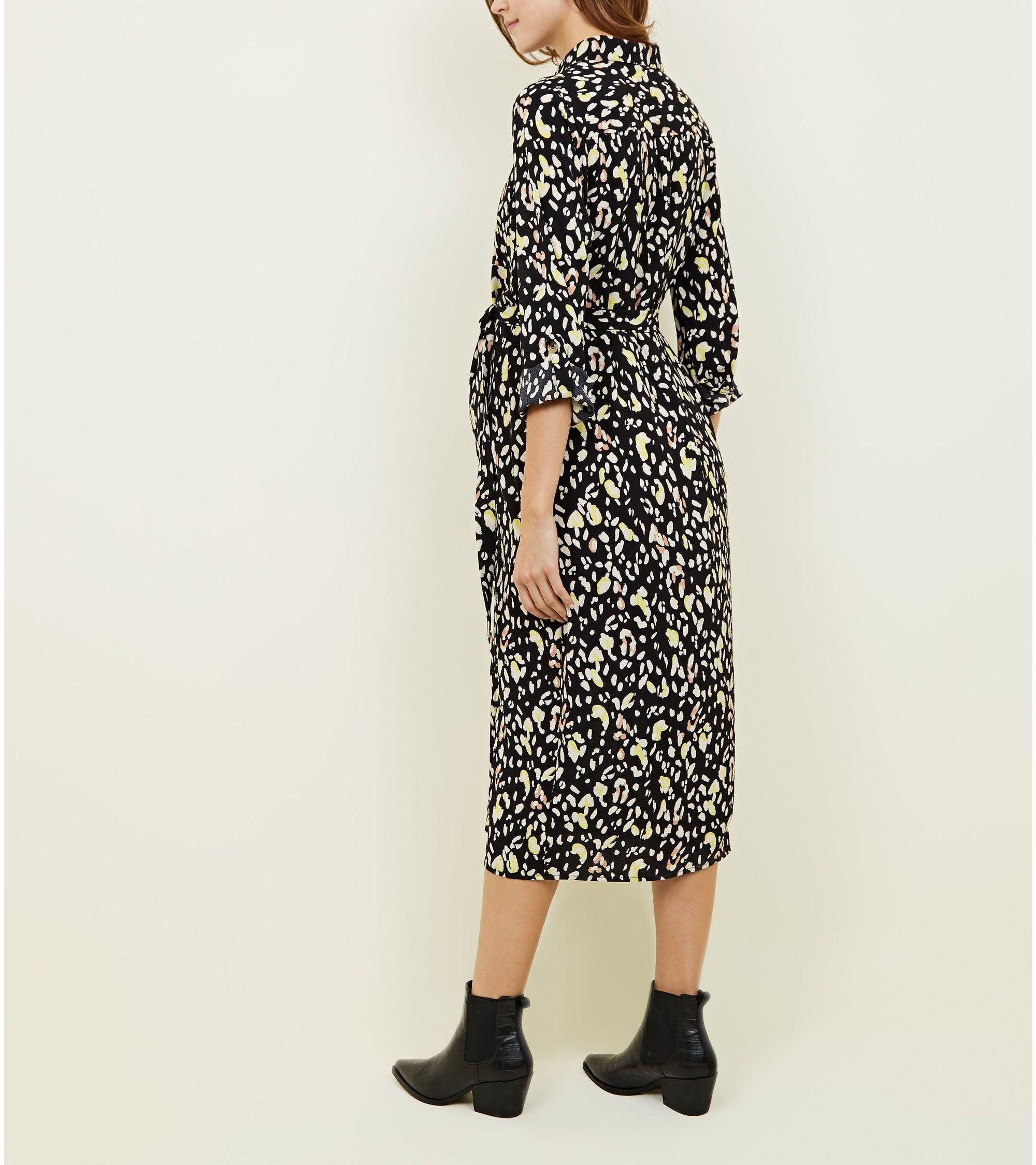 f11150a41e1f New Look Maternity Black Leopard Print Shirt Dress at £24.99   love ...