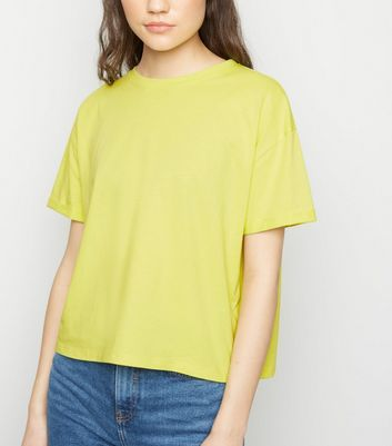 Bright Green Cotton Boxy T-Shirt