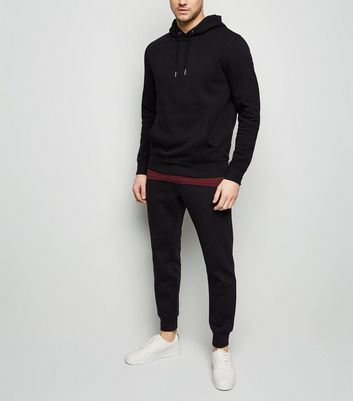 Black Hoodie and Joggers Tracksuit