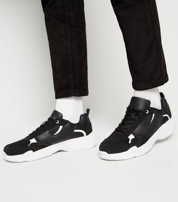 Black Panelled Chunky Trainers