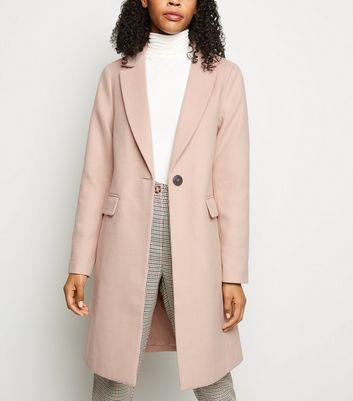 Pink Single Breasted Formal Coat