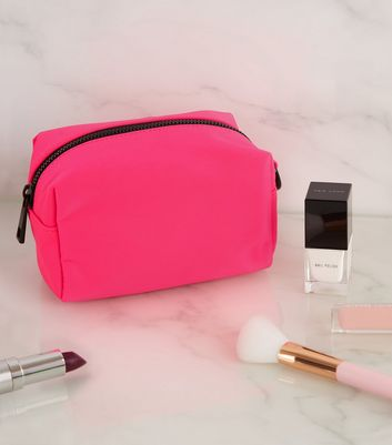 Bright Pink Neon Small Make-Up Bag