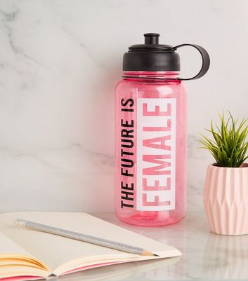 Pink Future Is Female 1ltr Water Bottle