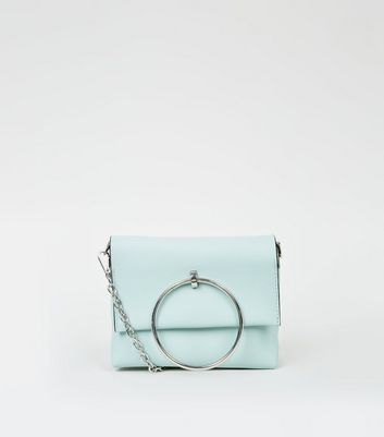 Mint Green Ring Handle Shoulder Bag