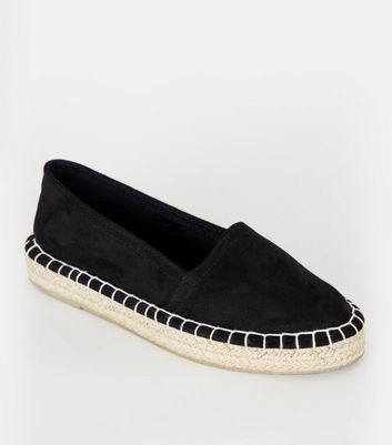 Girls Black Canvas Espadrilles