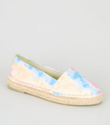Girls Multicoloured Tie Dye Slip On Espadrille Sandals